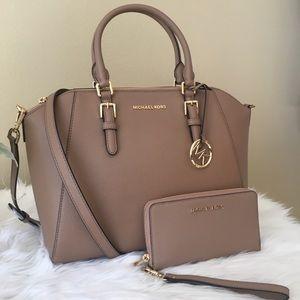 New Michael Kors Large Ciara Satchel & wallet